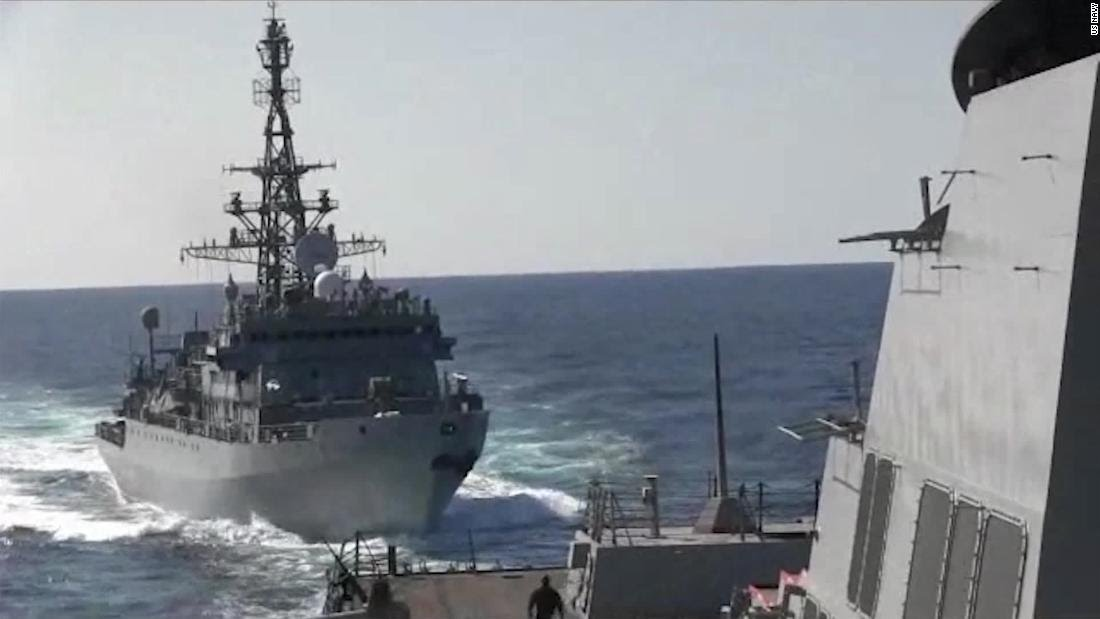 US Destroyer Faces Threat From Russian Warship In Arabian Sea