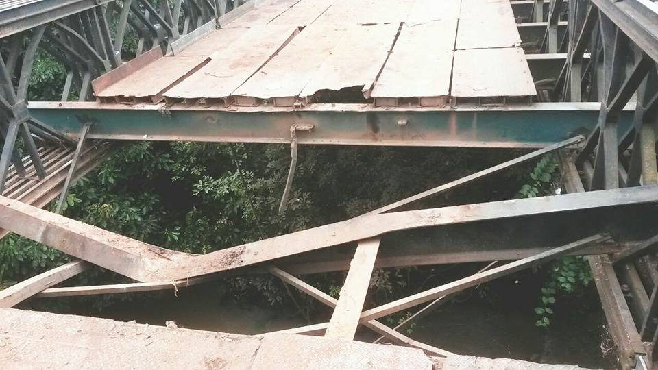 See The Most Dangerous Bridge In Nigeria