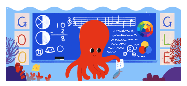 Google's Doodle Celebrates Teacher's Day 2019