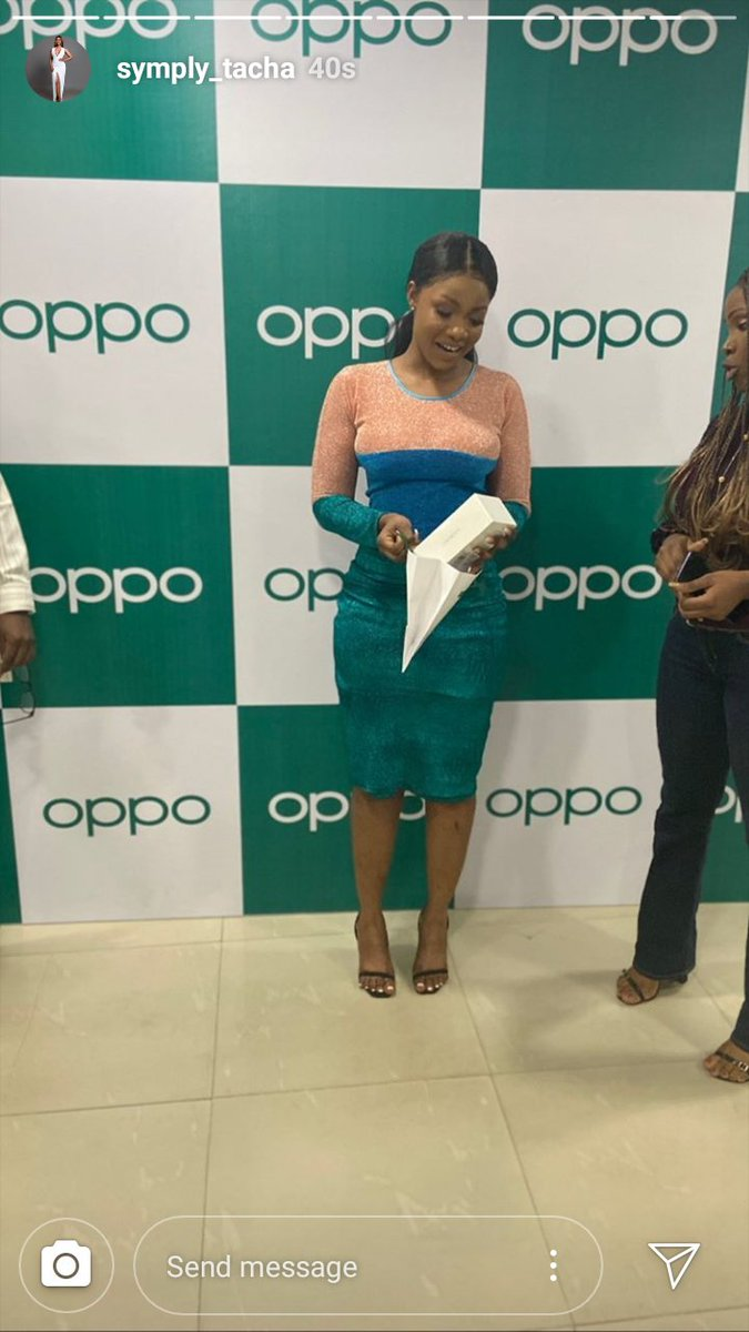 Tacha Gets New Android Phone From Oppo Mobile