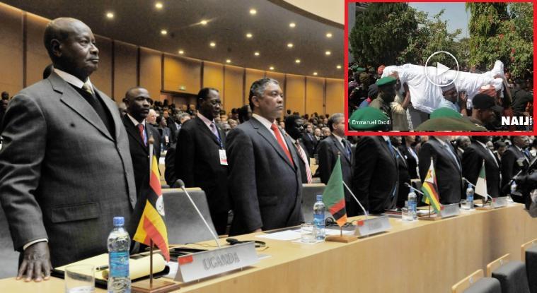 "A minute silence at AU Summit confirms ""Buhari is Dead"""