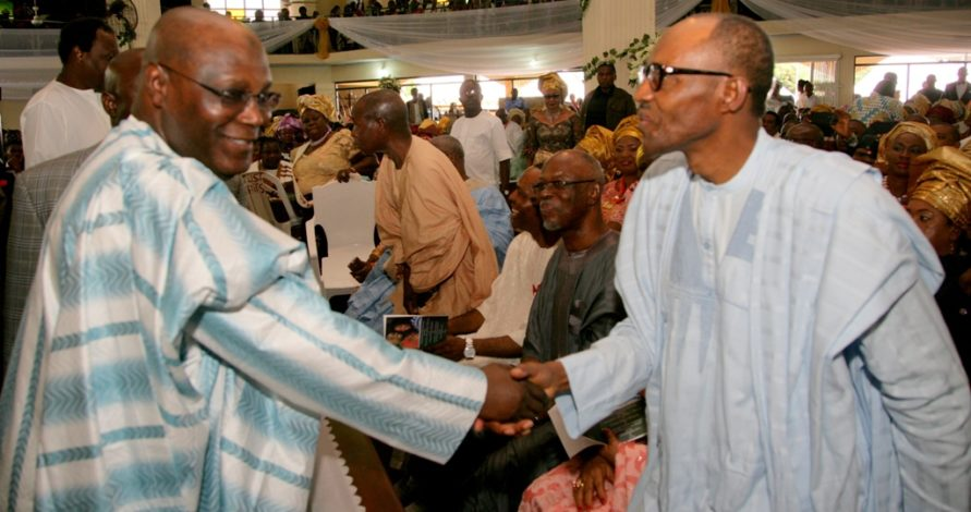 Buhari & Atiku In Rare Picture At Okorocha's Daughter's Wedding (Throwback)