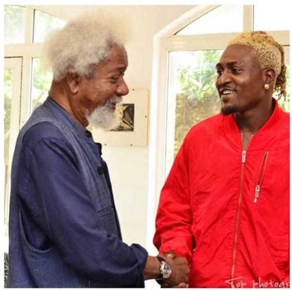 DMW Artiste, Idowest Meets With Prof. Wole Soyinka