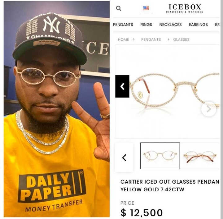 Davido Wore Glasses Worth N4.5M To His Son's Naming Ceremony