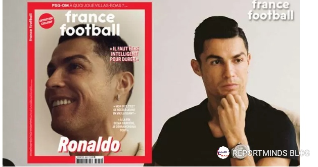 C Ronaldo Covers Ballon D'or Magazine, Reveals Retirement Plans