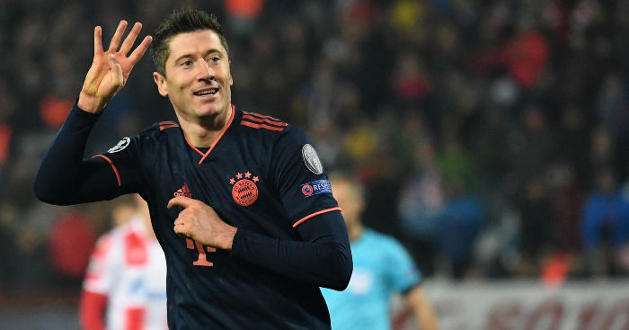 Lewandowski Becomes 5th All Time Scorers In Champions League With 63 Goals