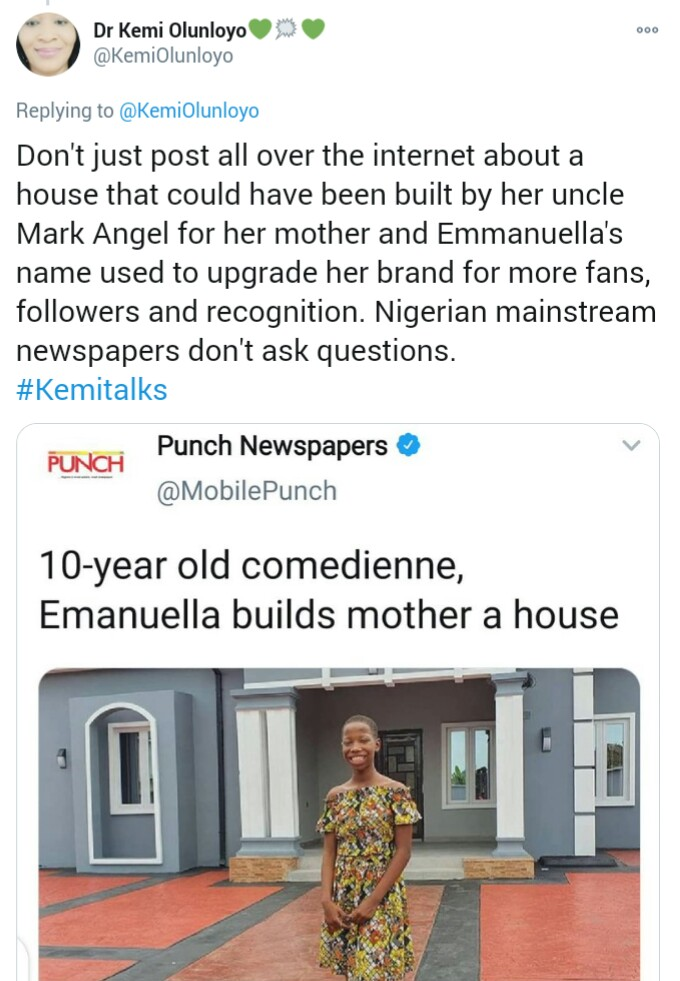 10-Year-Old Comedian, Emmanuella Builds An Expensive Mansion