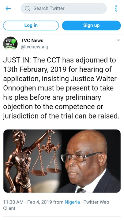 Onnoghen's CCT trial adjourned to February 13th