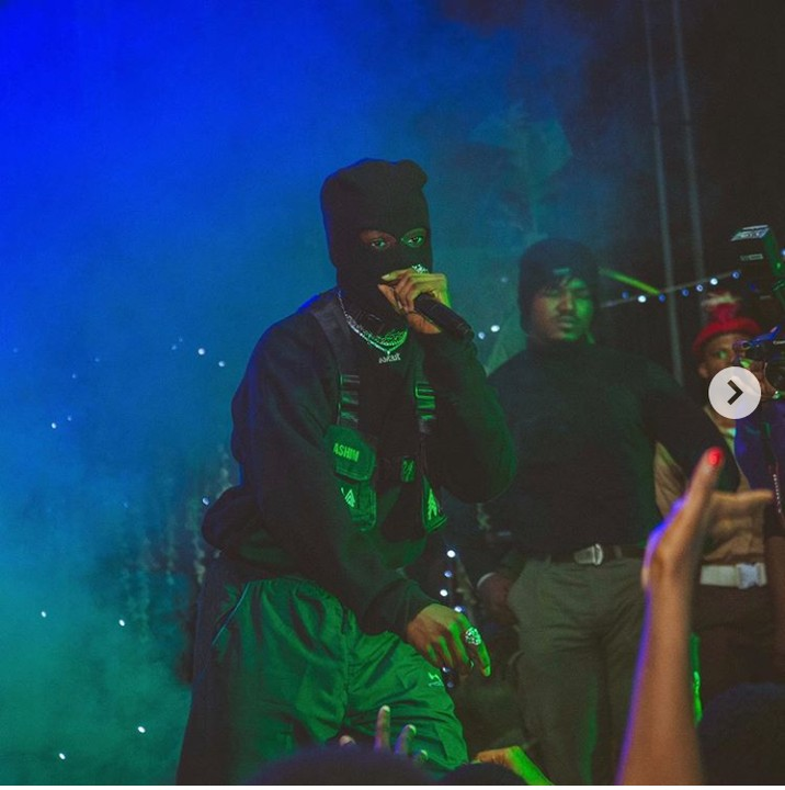 Rema Performs At Bell University, Dressed Like A Thief