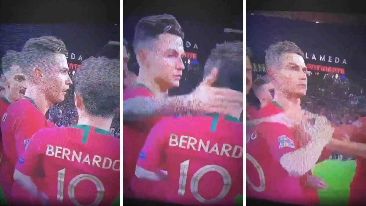 Fans Mock Ronaldo Over His Anger When Bernado Silva Won Nations League Best Player