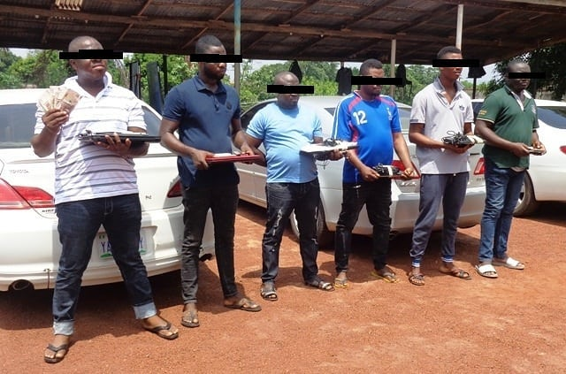 See Photo Of 5 Yahoo Boys Caught In Enugu State