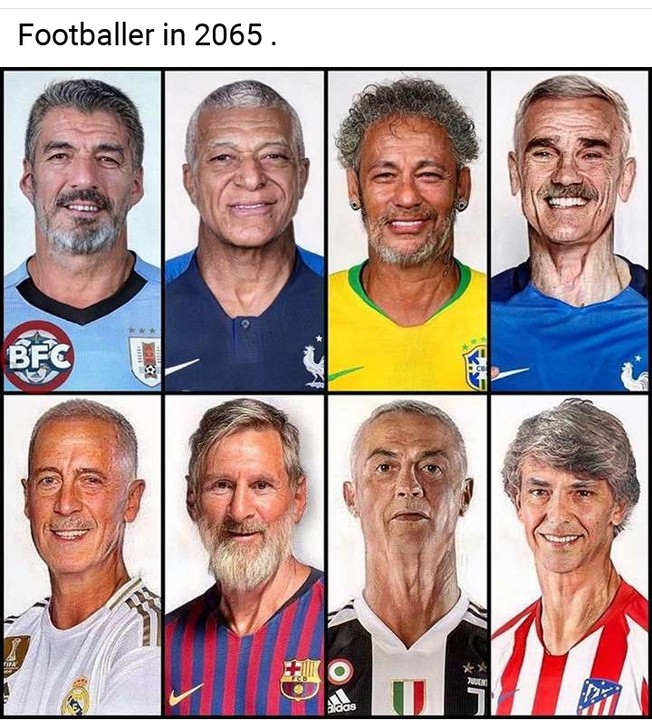 See Ronaldo, Messi & Neymar's Picture In 40 Years Time