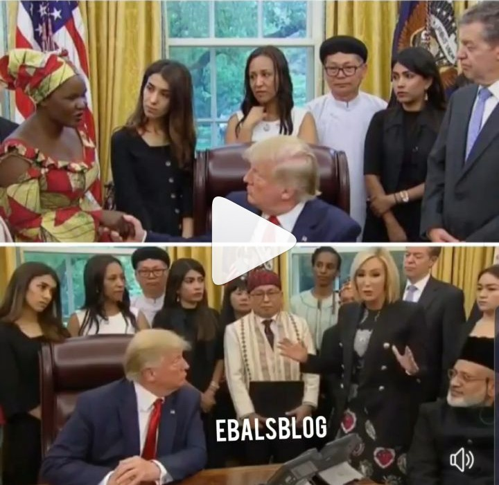 Lady Who Escaped From Boko Haram's Captivity Meets With Trump