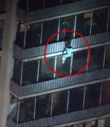 A Man Climbs 19-Storey Building Without Ladder, To Save His Mother From Fire