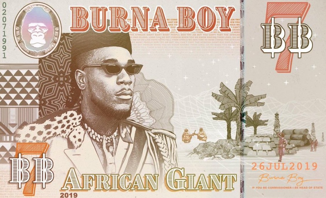 Burna Boy's New Album 'African Giant' - See Full Tracklist