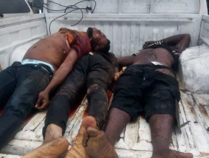 3 Armed Robbers Flop In Bank Theft, Police Kills Them All