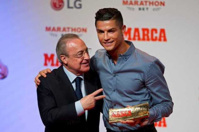 Ronaldo Reveals He Was Sad On His Departure From Real Madrid, As He Collects MARCA Legend Award In Spain