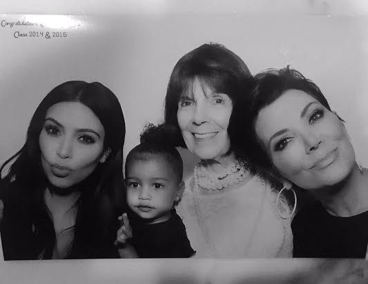 From daughter to great-grand mother - 4 generations of Kardashian