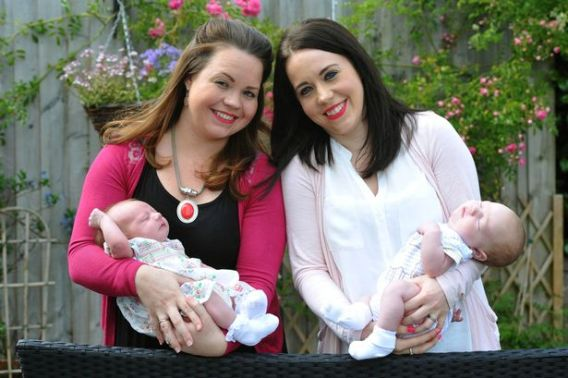 Coincidence: Twins give birth on same day