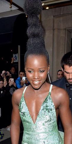 Ladies! See the hair Lupita made for Met Gala 2016