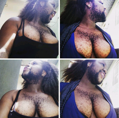 See Nigeria's Hairiest Woman Again