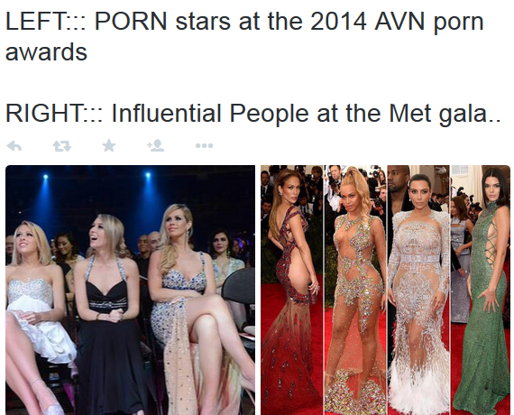 The only people that dress better than Hollywood stars to event are pornstars