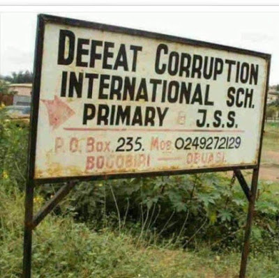 "The School Named ""Defeat Corruption"""