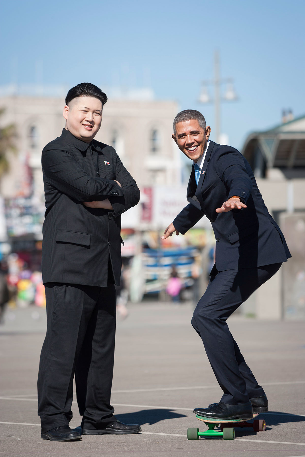 See Barack Obama and Kim Jong Un's impersonators