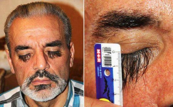 Longest eyelashes - a man from Ukraine