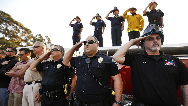 A Firefighter died quenching Thomas fire as wind poses new threat