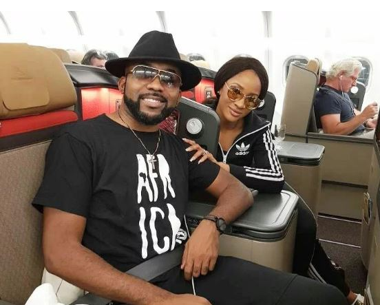Banky & Adesua fly out to SA in preparation for their white wedding