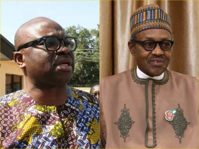 """""""I am not Buhari's enemy, the opposition is the strength of democracy"""" - Fayose"""