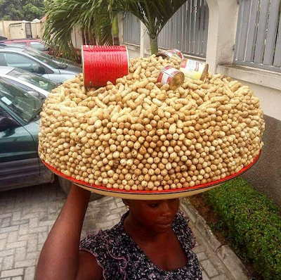 Beautiful Artistry From Groundnut Seller