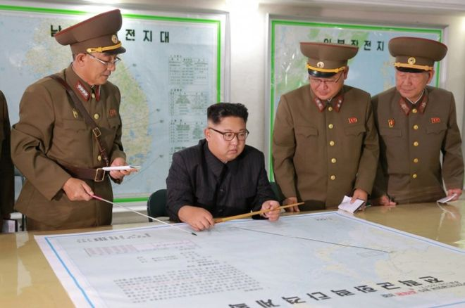 Kim Briefed On Guam Plan, Decides To Wait