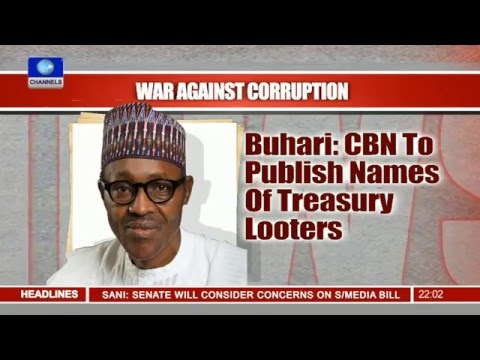 FG to publish names of treasury looters
