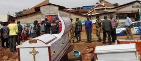 Angry Traders Dump 37 Coffins at Synagogue Church
