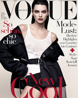 Kendall Jenner on the cover of Vogue Germany