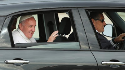 Pope Francis used a car when he visited the US - the car is now in the museum