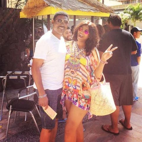 Omotola and Hubby Captain Matthew are in Hawaii to celebrate