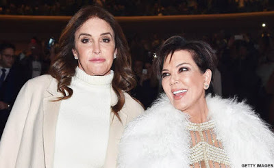 Former Husband and Wife now ladies! Caitlyn and Kris at NYFW