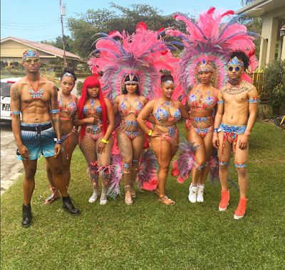 Amber Rose and Blac Chyna in Trinidad & Tobago Carnival