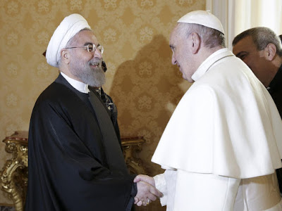 Pope Francis and Iran's President Meet in Rome To Discuss How To End Terrorism