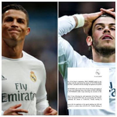 Leaked Documents proves that Cristiano Ronaldo was less expensive than Gareth Bale