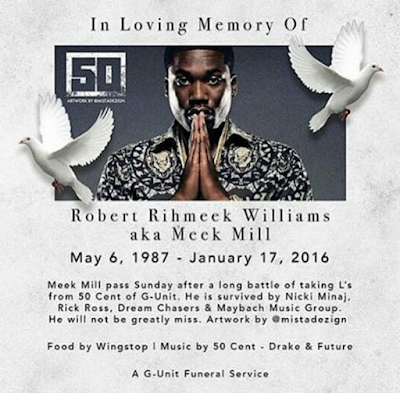 RIP Meek Mill - From 50 Cent - Lol