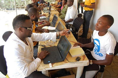 See the Artists Spotted Helping MTN Subscribers Register Their SIM Cards