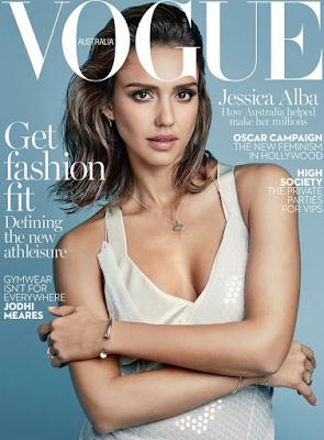 Hot Jessica Alba on the cover of  Vogue Australia