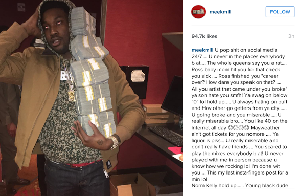Meek Mill comes for 50 Cent on Instagram and gets finished