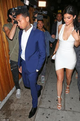Kylie Jenner and Tyga attend Justin Bieber's AMA afterparty