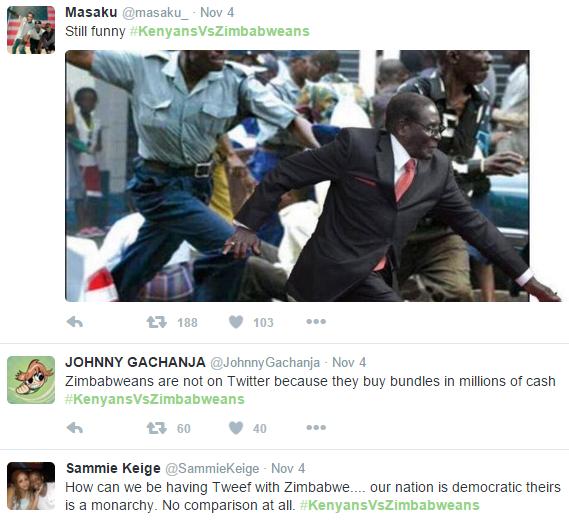 Kenyans and Zimbabweans roast each other in the #KenyansVsZimbabweans Twitter war
