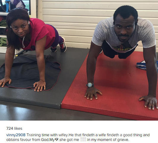 Enyeama trains with wife after retirement from National duty